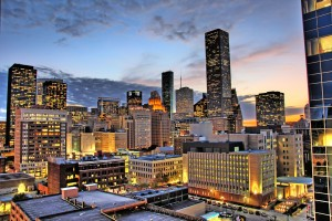 Houston, TX at Night - Gastric Sleeve Surgery in Houston Texas